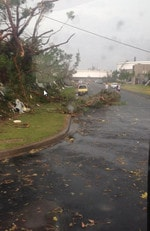 Storms hit Sydney, pictured here is Engadine. Picture: S Goddard via Engadine Royal Fire Brigage