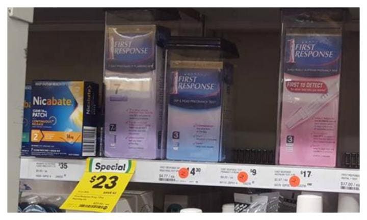 Woolies slammed by female customers over the way they sell pregnancy tests