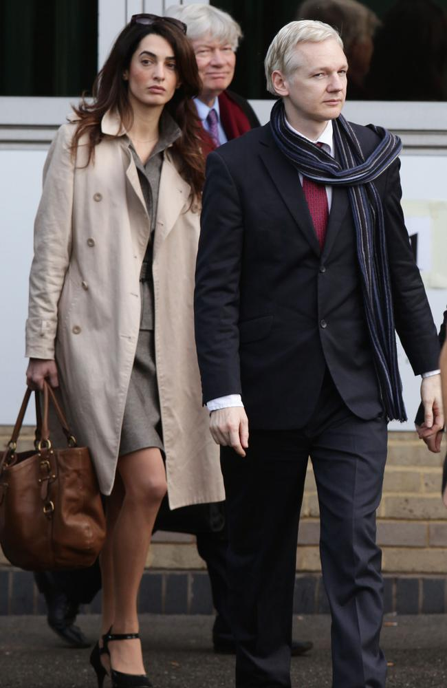 Serious stuff ... Alamuddin has represented high profile clients including WikiLeaks' Julian Assange. Picture: AP