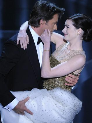 Hugh Jackman and Anne Hathaway. Picture: Supplied