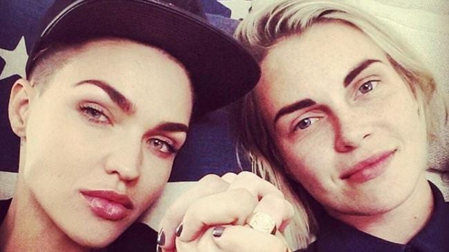 Inseparable couple Ruby Rose and fiance Phoebe Dahl. Picture: Instagram