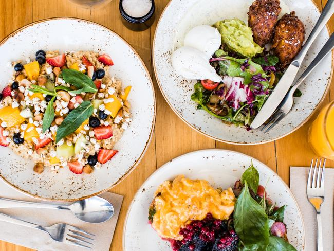 Three Blue Ducks' has a great menu selection. Picture: Nikki To