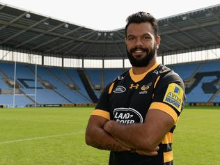 COVENTRY, ENGLAND - AUGUST 17: Kurtley Beale poses for a portrait during the Wasps squad photocall for the 2016-2017 Aviva Premiership Rugby season on August 17, 2016 in Coventry, England. (Photo by Tony Marshall/Getty Images)