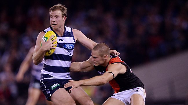 BACK this week? Steve Johnson in action for the Cats. Picture: Colleen Petch