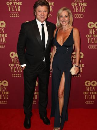 Wilkins and Burmeister at the GQ Men Of The Year Awards in early November.