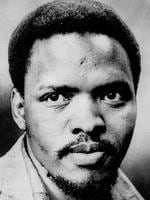 Steve Biko, South Africa's Black pride leader who was killed in 1977, is seen in this undated file photo. Police slammed Steve Bikos head into a wall, chained him crucifixion style to a gate for 24 hours, then covered up the truth about his death, one of the officers admitted Sept. 10, 1997. Col. Harold Snyman, squirmed, stammered and looked anywhere but forward as he recounted the 1977 killing of the black pride leader in a bid to win amnesty from South Africas Truth and Reconciliation Commission. (AP Photo/FILE ).p/
