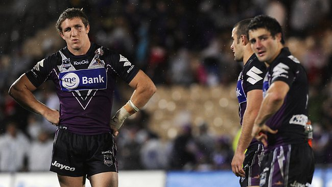 Ryan Hoffman (left) and Cooper Cronk weren't overly impressed following the draw in 2009.