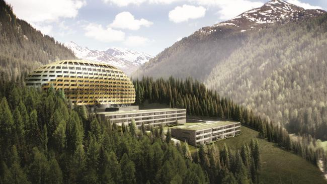 Not a movie set ... The futuristic InterContinental Davos Resort and Spa in Switzerland. Picture: Knight Frank