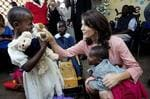 <p>Danish Crown Princess Mary visits the AIDS support organisation TASO at the Mulago Hospital in Kampala, Uganda, on Monday, Sept. 29, 2008.</p>