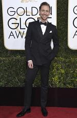 Tom Hiddleston attends the 74th Annual Golden Globe Awards at The Beverly Hilton Hotel on January 8, 2017 in Beverly Hills, California. Picture: AP