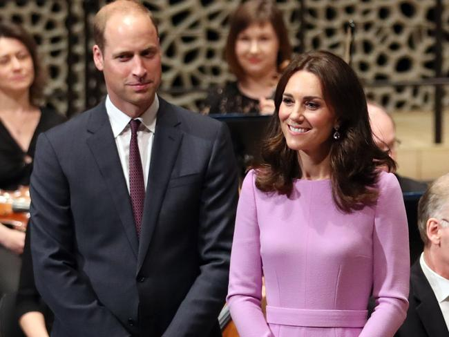 Prince William, Duke of Cambridge and Catherine, Duchess of Cambridge during a visit to Germany earlier this year. Picture: Jane Barlow — Pool/Getty Images