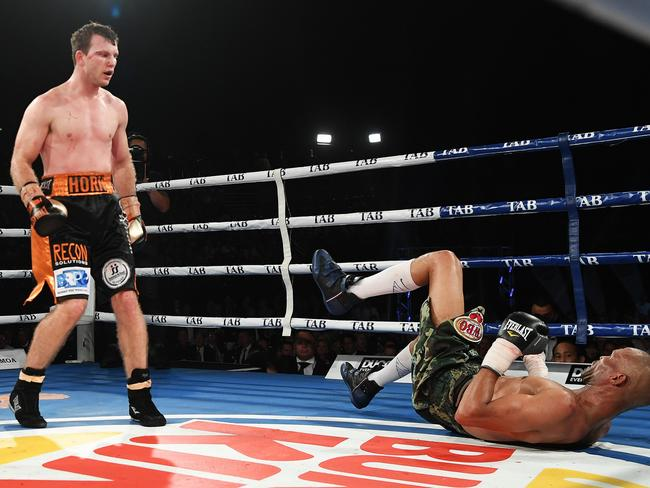 Jeff Horn plans to put Manny Pacquiao on his back.