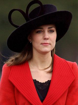 Kate Middleton at her first official event as Prince William's girlfriend at the Sovereign's Parade at The Royal Military Academy on 15 December 2006. Picture: AFP Photo/Pool/Ben Gurr