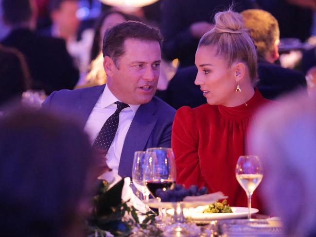 Karl Stefanovic and Jasmine Yarbrough at the David Jones Spring Summer 2017 Collections launch in Sydney. Picture: Christian Gilles