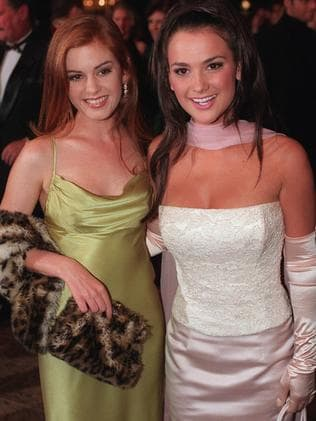 Isla Fisher and Kristy Wright at the Logies.