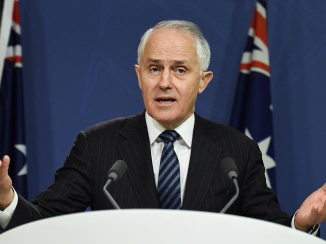 Prime Minister Malcolm Turnbull speaks at a press conference in Sydney, Wednesday in the wake of the Census fallout. Picture: Mick Tsikas