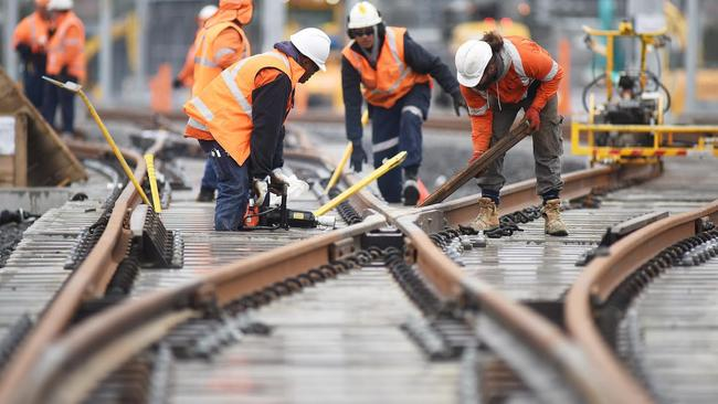Track laying is already happening on the Sydney Metro North West.