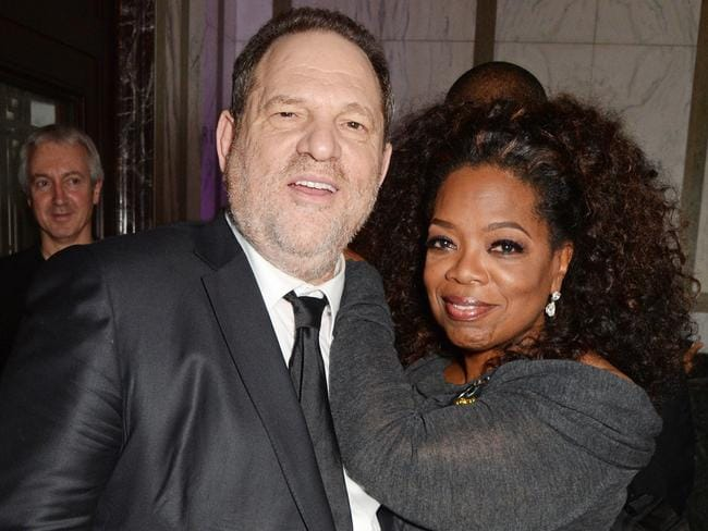 Another chummy picture Oprah would probably rather forget. Picture: David M Benett/Getty Images for The Weinstein Company
