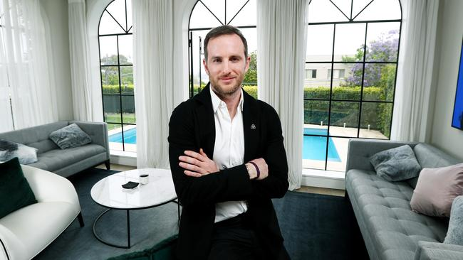 Airbnb co-founder Joe Gebbia, at one of Sydney's Airbnb listings in Bellevue Hill on Monday. Picture: Hollie Adams