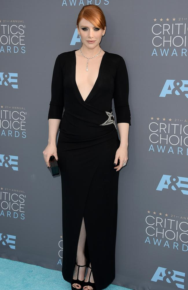 Bryce Dallas Howard attends the 21st Annual Critics' Choice Awards on January 17, 2016 in California. Picture: AP