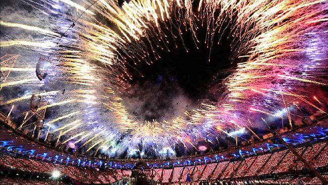 The Opening Ceremony for the London Olympics this morning was a spectacular sight. Picture: Getty