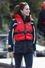 <p>Catherine Duchess of Cambridge disembarks the Shotover Jet on the Shotover River on April 13, 2014 in Queenstown, New Zealand. Picture: Getty</p>
