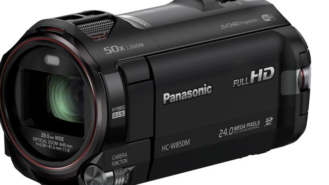 Full HD and megapixels ... Panasonic W850 video camera.