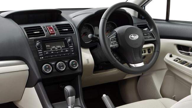 Dash of flair: all Imprezas came with auto stop-start, cruise control, climate control, Bluetooth and USB connection.
