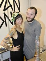 Australian Tattoo and Body Art Convention at the PCEC. Sweet Dee is tattoo apprentice to Ryan One.