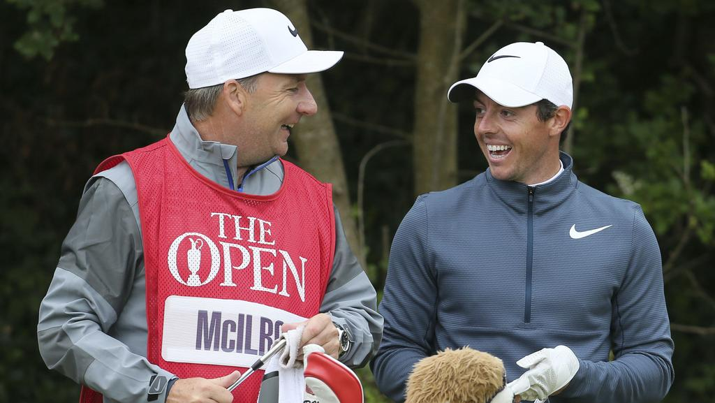 J.P. Fitzgerald y Rory McIlroy. Foto: Daily Telegraph