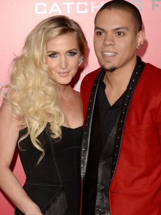 Ashlee Simpson and Evan Ross.