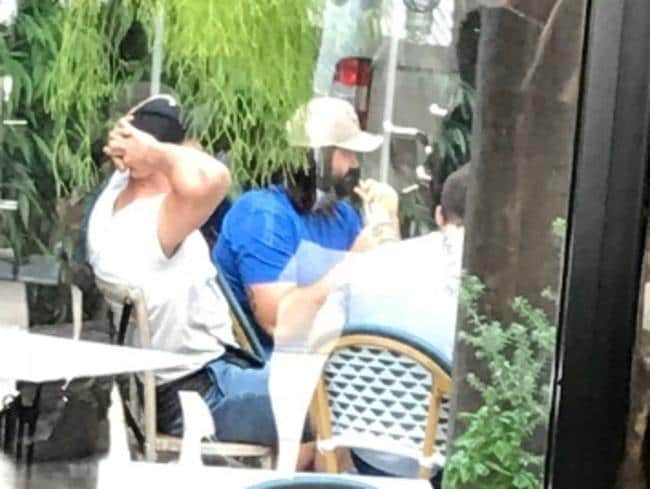 Wests Tigers brazen Aaron Woods carrying a catch-up with Josh Jackson and other Canterbury Bulldogs players during Roselands. Picture: Supplied