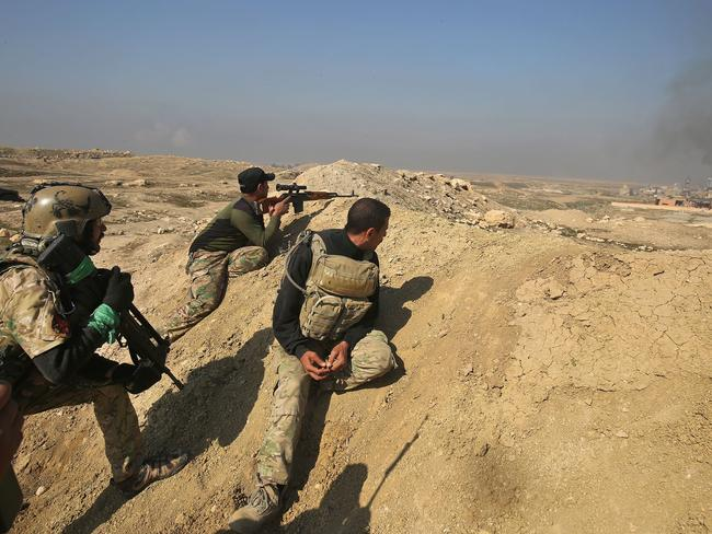 Iraqi forces advance towards Mosul airport. Picture: AFP