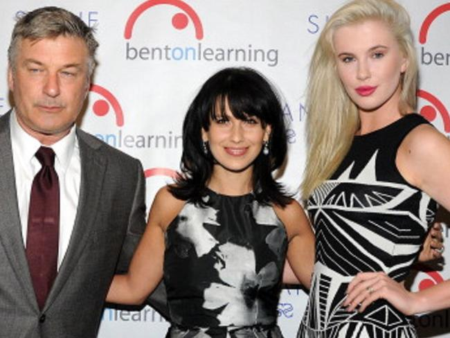 "Alec Baldwin, wife Hilaria Baldwin, and daughter Ireland Baldwin in 2014. Picture: Supplied  <a capiid=""e3ecf06411ec442ef9b4b3a58db0b1dc"" class=""capi-video"">Alec Baldwin on playing Donald Trump</a>"