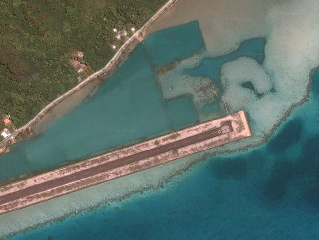 Raivavae Airport, Austral Islands, French Polynesia. Picture: Lauren O'Neil