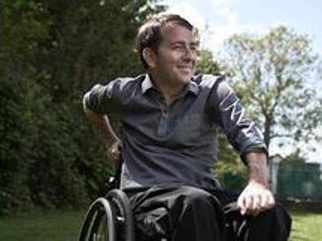 Moving on...Holmes now runs a production company that produces podcasts to help other people who are suffering from spinal cord injuries. Picture: Ripple Productions