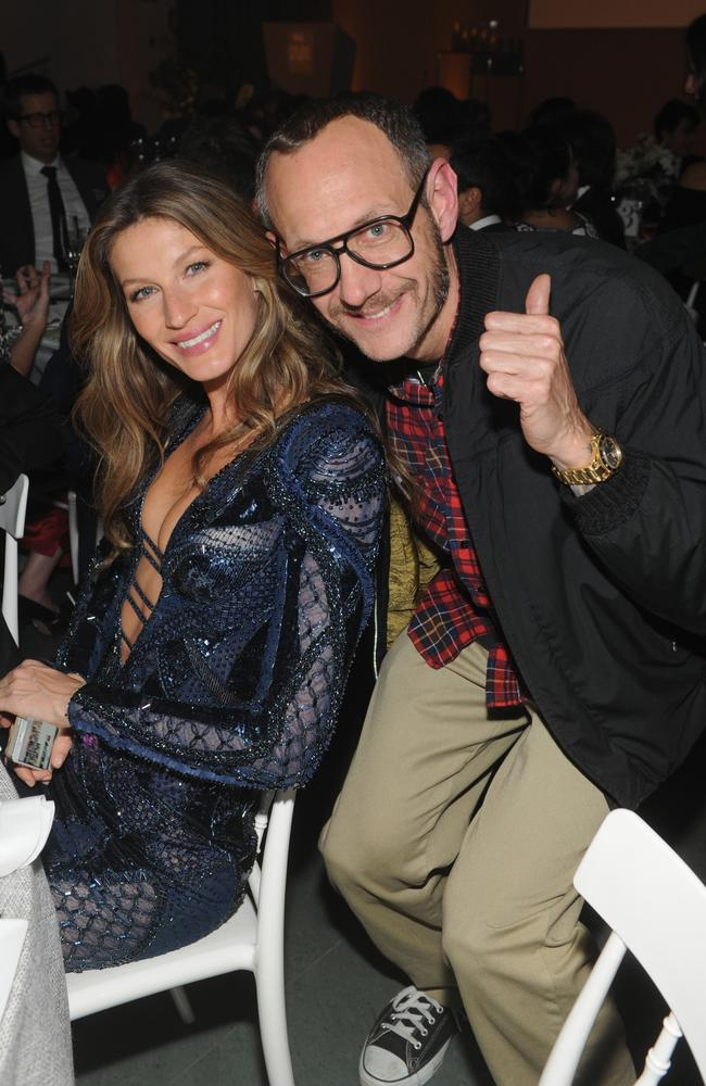 Model Gisele Bündchen and Terry Richardson in 2013. Picture: Getty