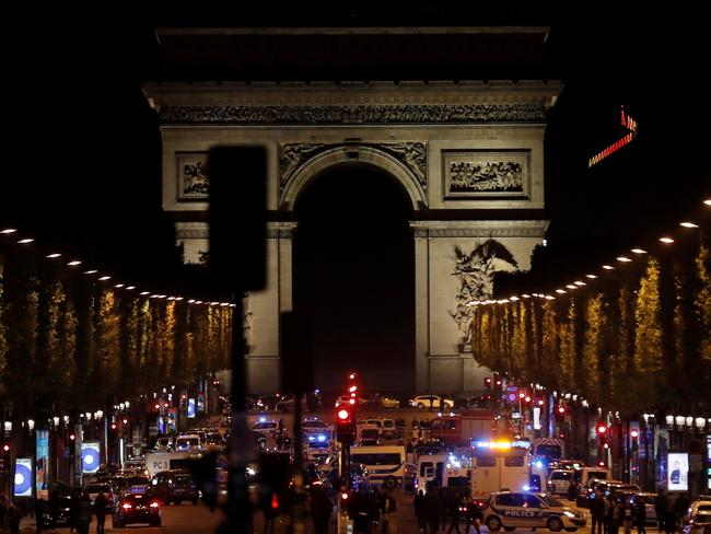 Three police officers have been shot in an attack on the Champs Elysees in Paris.