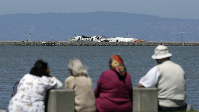 Investigators said the Boeing 777 was travelling ?significantly below?? the target speed during its approach. Picture: AP