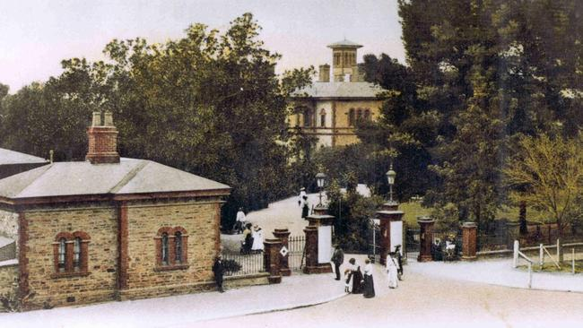 Entrance gates from North Tce, in 1900. Pictures: Royal Adelaide Hospital Heritage Office