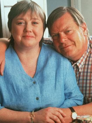 Pauline Quirke is a TV regular in the UK ... here with Warren Clarke in  <i>Down to Earth</i>.