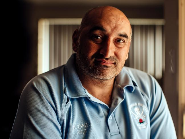 Mr Taiba still needs to take medication to help control seizures he has had since being punched. Picture: Jonathan Ng
