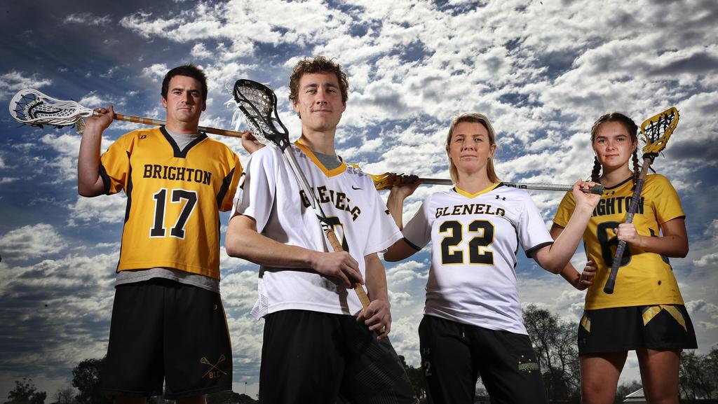 Jack Woodford, Jack Opolski, Courtney Hobbs and Zephyr Williams will feature in the lacrosse state league Grand Finals. Picture: Sarah Reed
