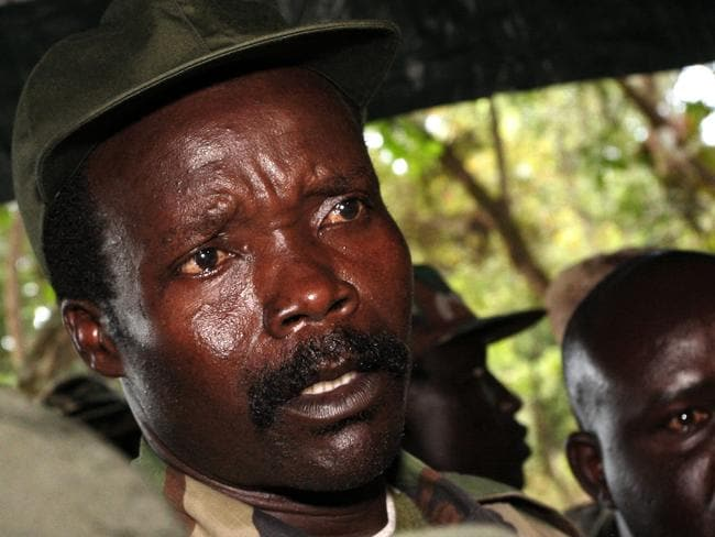 The leader of the LRA, Joseph Kony remains in hiding despite efforts to capture him. Picture: AP/Stuart Price