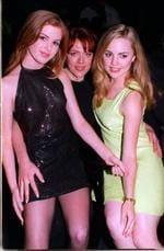 <p>Isla Fisher, left, Lisa Hensley and Melissa George at a party celebrating Metropolitan magazine's 50 most eligible women in 1995.</p>