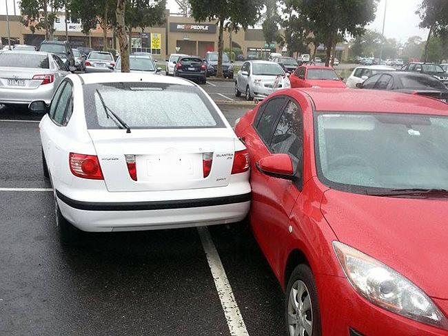 Are you blind? From Fountain Gate Shopping Centre. Picture: Facebook/Melbourne Crap Parkers