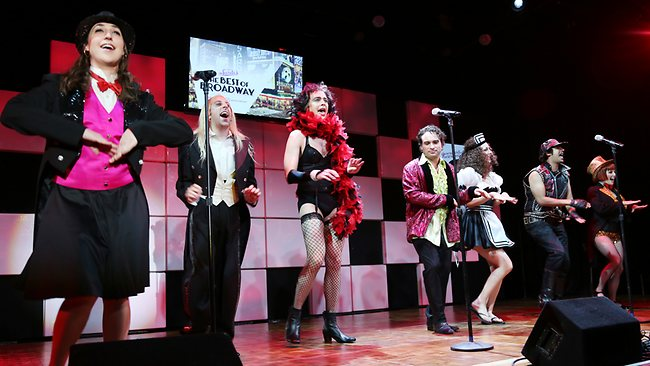 The Big Bang Theory cast perform on stage. Picture: Splash