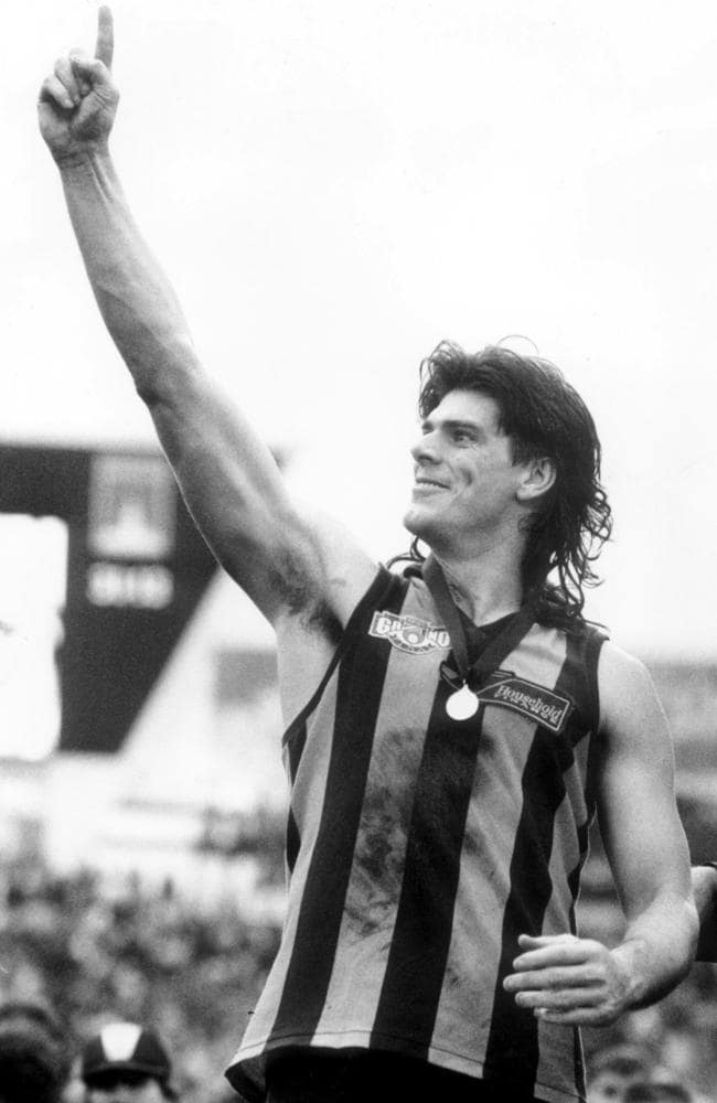 Gary Ayres after winning the 1991 AFL Grand Final.