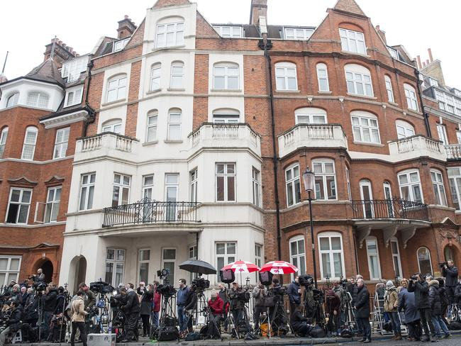 The embassy where Julian Assange has been living since July 2012. Picture: Supplied.
