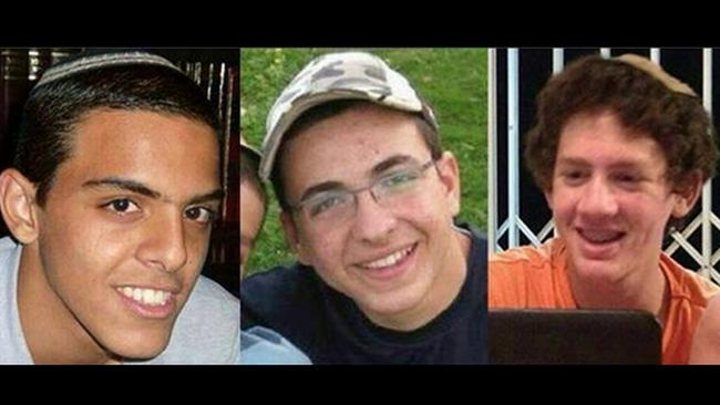 Bodies recovered ... Eyal Yifrah, 19, Gilad Shaar, 16, and Naftali Fraenkel, a 16-year-old with dual Israeli-American citizenship, who disappeared while hitchhiking home near the West Bank city of Hebron late at night on June 12, 2014.